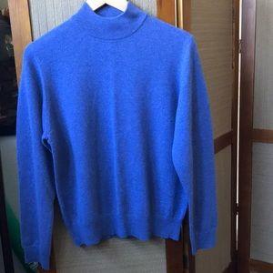 CHARTER CLUB CASHMERE BLUE PURPLE SWEATER SIZE L